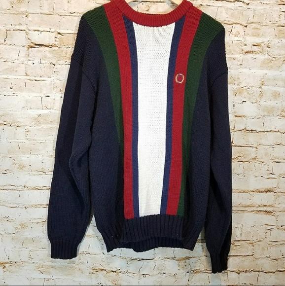 8c385807c89344 Vintage Tommy Hilfiger Color Block Knit Sweater. M_5b6b62ea04e33d086c9c44e0